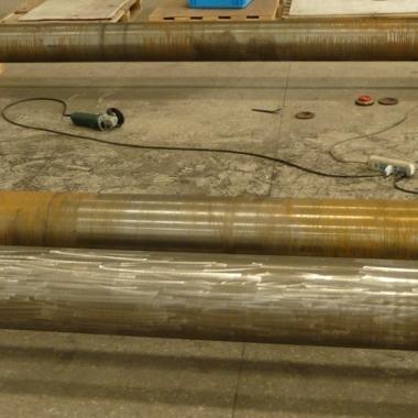 海工活塞杆修复前